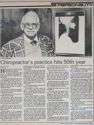 An 1986 News Journal article about Harold Rinehart.