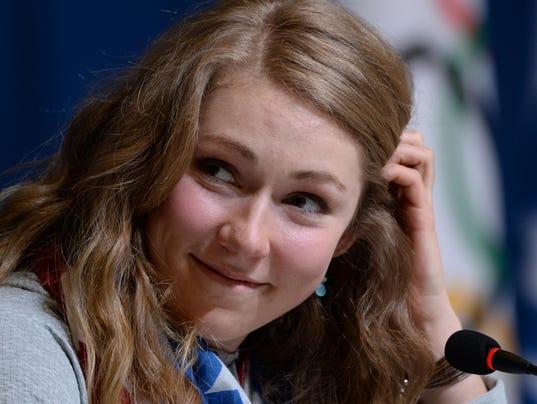 USP Olympics_ Alpine Skiing-Mikaela Shiffrin Press