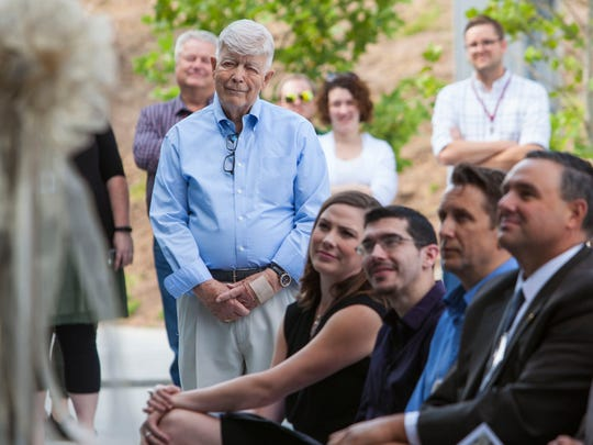 The dedication ceremony for the Eileen and Allen Anes