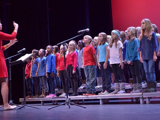 "The Workman Elementary School hoir, directed by Keri Mueller, sings ""Proud of Our Veterans."""