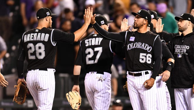 The Colorado Rockies open a three-game series Friday at Coors Field against the Miami Marlins.