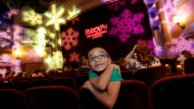 """Ezekiel Hawk, 6, was the special guest Dec. 8 at a production of """"Rudolph the Red-Nosed Reindeer: The Musical"""" at the Plaza Theatre. Ezekial, who was adopted by the Hawk family of El Paso, will be appearing Sunday in """"Ragtime: The Musical."""""""