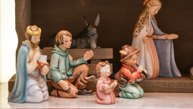 German Hummel creche on display at the Miller House and Gardens.