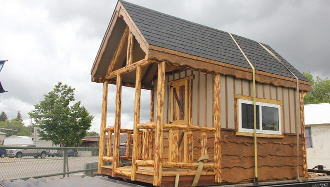 A playhouse for auction in Shelby.