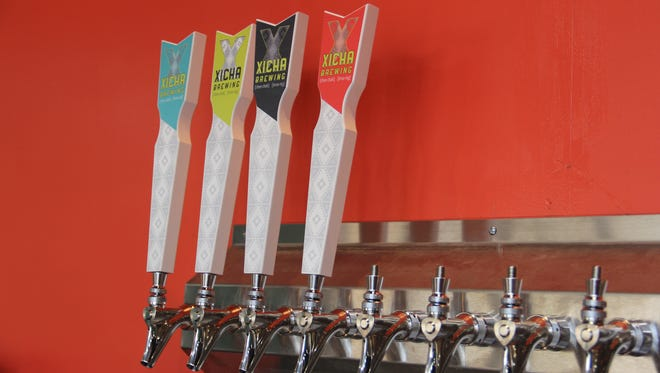 The taps at Xicha Brewing, which is set to open in late October.