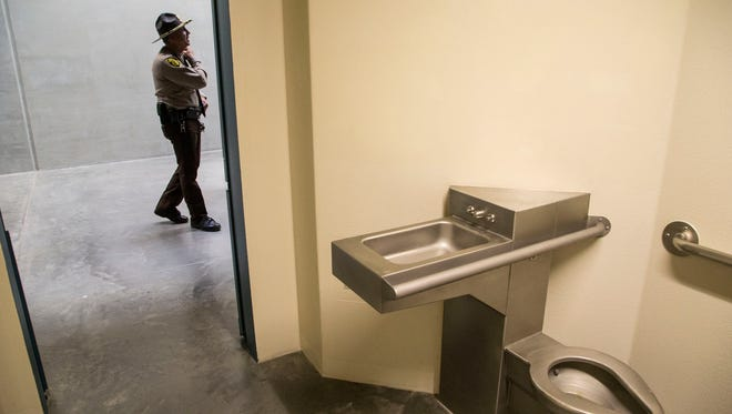 A cell in Arizona's newest maximum security prison, which debuted recently in Buckeye.