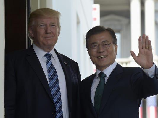 Donald Trump,Moon Jae-in