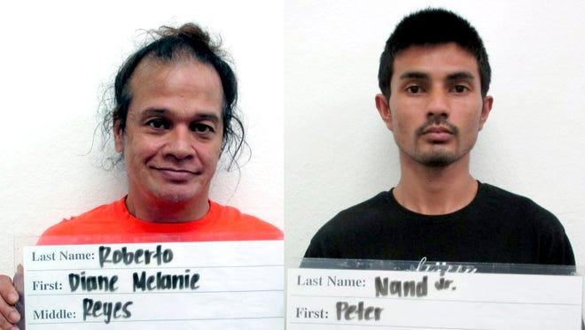 """Frankie """"Diane Melanie"""" Reyes Roberto and Peter Junior Nand"""
