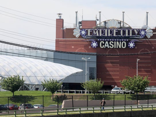 The exterior of Empire City Casino at Yonkers Raceway