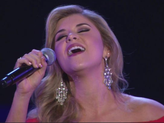 Blaire Bostwick performs a vocal performance as her