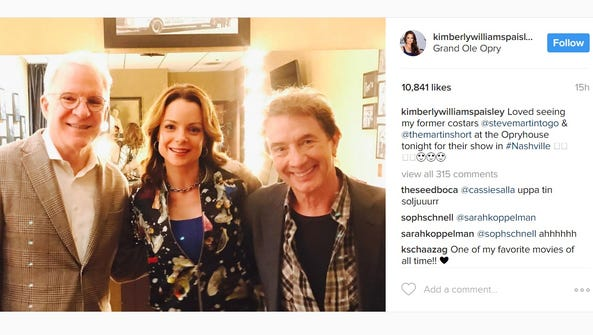 Kimberly Williams-Paisley reunited with Steve Martin