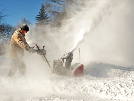 Clearing snow with a snowblower almost feels like being