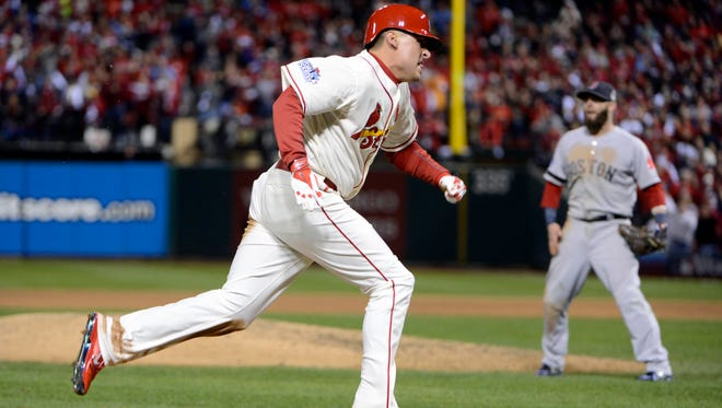 Allen Craig played the field in Game 5 for the first time since September.