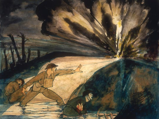 Claggett Wilson (1887–1952) painted 'Front Line Stuff,'