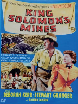 """""""King Solomon's Mines"""" (1950), starring Deborah Kerr, Stewart Granger and Richard Carlson, filming locations include Carlsbad Caverns, White Sands and Sitting Bull Falls in the Lincoln National Forest."""