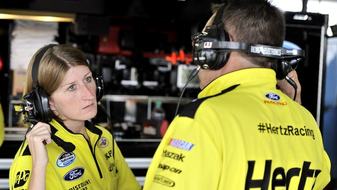 Andrea Mueller's goal is to become a crew engineer on the Sprint Cup Series.