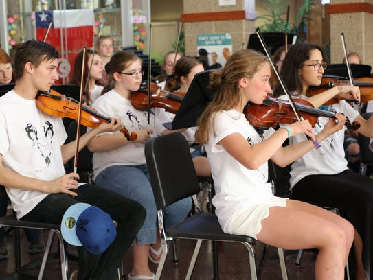 Student musicians perform at the Wausau East CAFE.