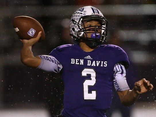 Ben Davis quarterback Reese Taylor