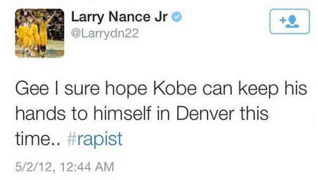 Three years later, a simple tweet could lead to some awkward moments for one of the newest Los Angeles Lakers.