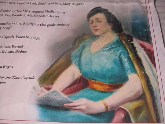 An image of Mary Augusto from the program for the dedication