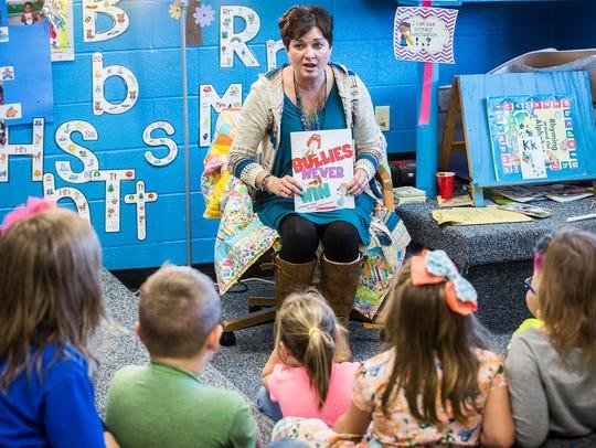 Redkey Elementary School kindergarten teacher Stacy
