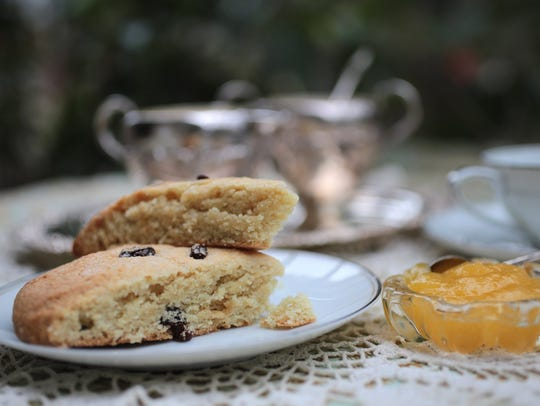 Sweet Cream Scones with Lemon Curd.