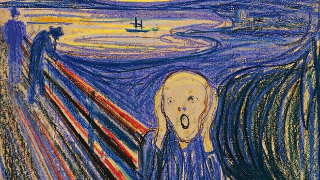 "This undated photo provided by Sotheby's Auction House in New York shows ""The Scream"" by Norwegian painter Edvard Munch."