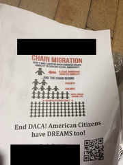 About 30 white supremacist propaganda posters were spotted on the Texas A&M-Unversity Corpus Christi campus. A student group took them down after they were spotted.