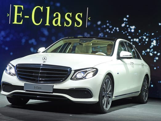The new Mercedes-Benz E-Class is presented at a hotel