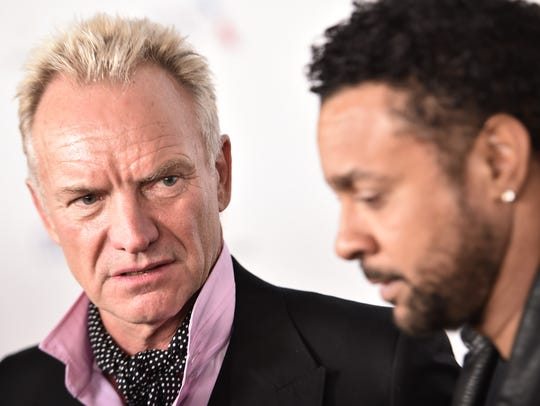 Sting and Shaggy attend the Universal after party after