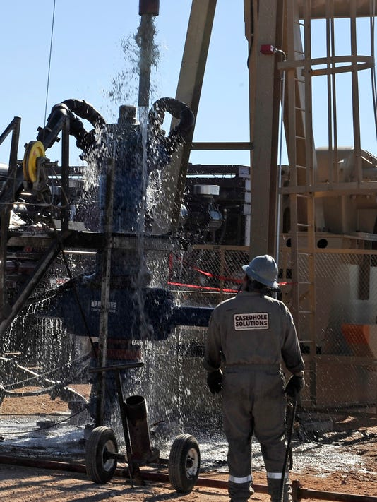 Fracking in Midland, Tex.