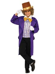 Kids can dream up chocolate treats while honoring the late Gene Wilder with this Willy Wonka costume. $25.49 at anytimecostumes.com.