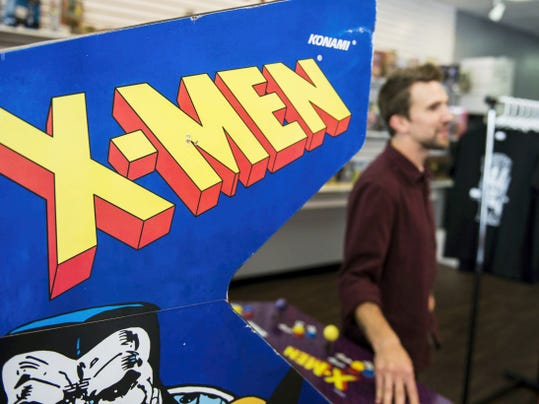 "4th Wall Comics in Lancaster features classic arcade games like ""X-Men"" and ""Captain American and the Avengers"" pictured on Tuesday, June 9, 2015."