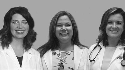 Katie Sowder, left; Heather Hall, and Dr. Julie Brown, are among the providers caring for patients at the Hammond-Henry Hospital Medical Group - Port Byron.