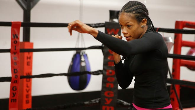 Dominican Republic featherweight contender Liliana Martinez goes through the final preparations for Saturday night's mandatory fight against El Pasoan and IBF World Female Featherweight champion Jennifer Han. The main event is one of seven fights scheduled on the fight card.