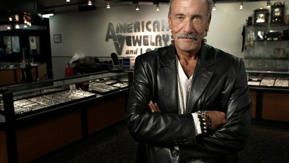 Les Gold inside the pawnshop American Jewelry & Loan