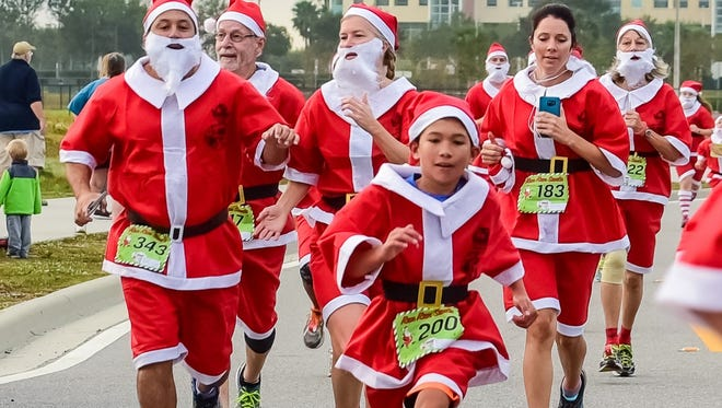 Run Run Santa, a 1-mile race that began in Viera, makes its debut in Vero Beach this weekend.