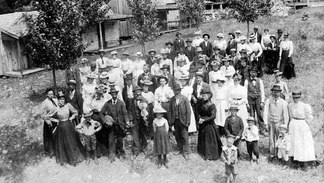 On Sunday, April 24, 1904, a large group gathered at the Cold Springs Resort east of Greenville to celebrate the 30th wedding anniversary of the front-row celebrants, George Christian Beard Arehart and his wife, Sarah Elizabeth Swisher Arehart. The lad to their left died June 8, 1905, at age 12.