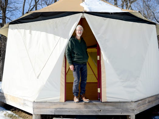 Peter Belt started Red Sky Shelters in Asheville in