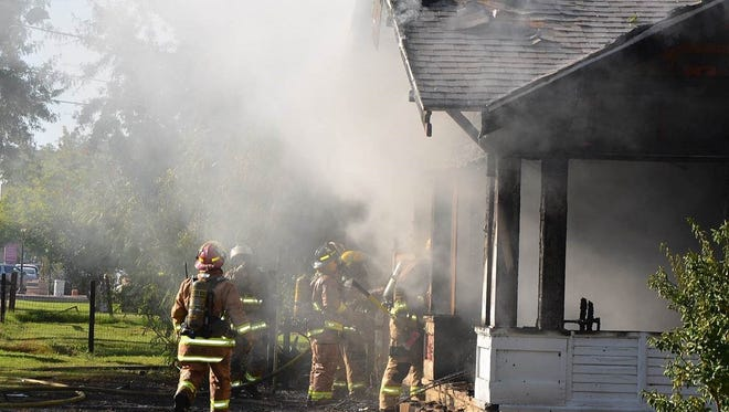 A nearly 100-year-old historic house in Glendale's Catlin Court district suffered extensive fire damage on Oct. 22, 2016.