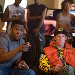 """In this image released by Warner Bros. Entertainment Inc., Kevin Hart, left, and Will Ferrell appear in a scene from """"Get Hard."""" (AP Photo/Warner Bros. Entertainment Inc., Patti Perret)"""