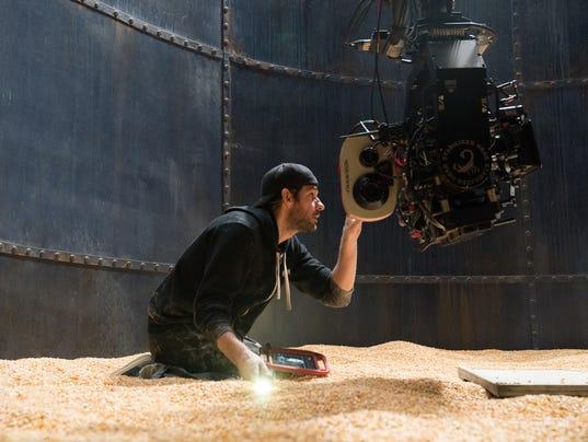 "John Krasinski on set ""A Quiet Place"""