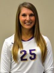 Bethel volleyball player Rebecca Jobst missed last