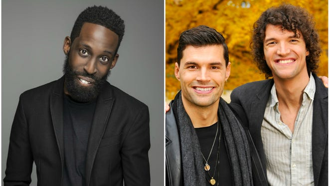 Tye Tribbett (left) and For King & Country will host the 2016 Dove Awards