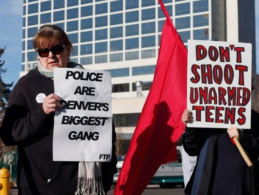 Denver Police protesters