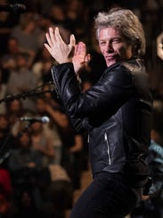 Jon Bon Jovi performs with Bon Jovi at Madison Square