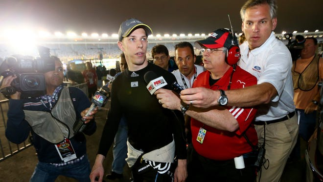 Brad Keselowski angered several drivers at the end of the Bank of America 500.
