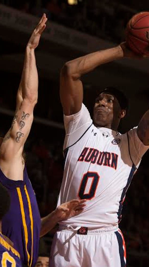 Auburn forward Horace Spencer finished with just seven