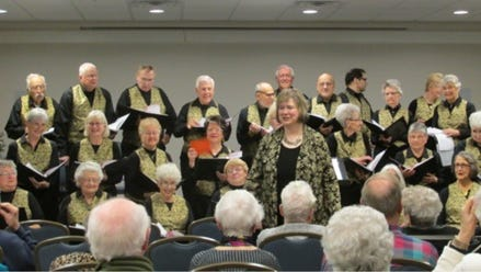 The Golden Tones will give a holiday concert Saturday at the Oshkosh Seniors Center.