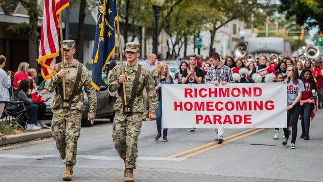Hundreds came out for the Richmond Homecoming Parade through downtown Richmond, Ind. on Thursday, Sept. 14, 2017.